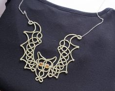 The bat is olive in color. In stock, st … Tatting Necklace, Tatting Jewelry, Lace Necklace, Tatting Patterns, Doily Patterns, Crochet Patterns, Dress Patterns, Needle Tatting, Tatting Lace