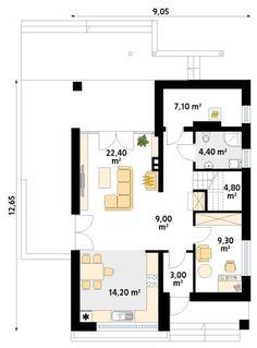 MT Amarant CE Modern Farmhouse Exterior, House Plans, Floor Plans, How To Plan, Architecture, Plane, Houses, Cottage, Arquitetura