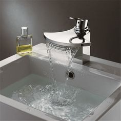 32.50$  Watch now - Torneira Single Hole Deck Mounted Hot-Cold Basin Mixer Chrome Waterfall Faucet Sedal Cartridge Faucet  #SHOPPING
