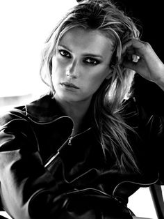 Sigrid Agren by Victor Demarchelier for LExpress Styles #sigrid agren#leather#leather jacket#black leather#B&W