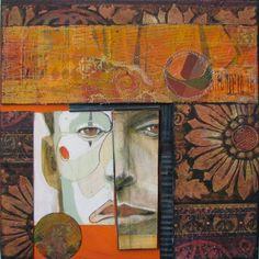 "Anne Bagby ""I employ a combination of printmaking and painting, with layers of color, glaze, texture and pa..."