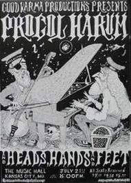 Procol Harum, Heads Hands and Feet - The Music Hall, Kansas City 1972 Concert Posters, Music Posters, Robin Trower, Procol Harum, Psychedelic Bands, Call Art, Progressive Rock, Rock Concert, Classical Music