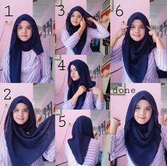 Best how to wear hijab tutorials headscarves ideas Best how to wear hijab tutor. Best how to wear hijab tutorials headscarves ideas Best how to wear hijab tutorials headscarves id Tutorial Hijab Segi 4, Square Hijab Tutorial, Simple Hijab Tutorial, Hijab Style Tutorial, Stylish Hijab, Hijab Chic, How To Wear Hijab, Hijab Fashion Inspiration, Hijabi Girl