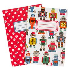 Robots Pack of 2 Notepads