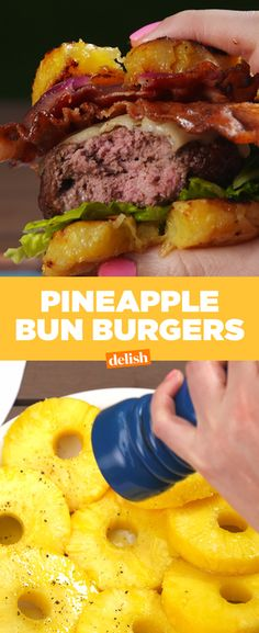 This low-carb pineapple hack will make you swear off hamburger buns forever. Get the recipe at Delish.com.