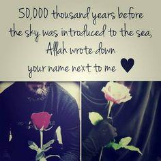 My dear Allah The Almighty? Where is mine? InSha Allah soon (: