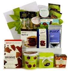 Healthy Gourmet Gifts - Sweet Chocolate Bliss - Deluxe, $119.00 (http://www.healthygourmetgifts.com/chocolates-truffles-cookies-sweets-gift-basket-deluxe/)