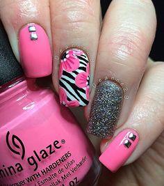 pink-nail-art-51 - 65 lovely Pink Nail Art Ideas  <3 <3
