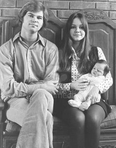 Sally Field with first husband, Steven Craig, and their son, Peter (1969)