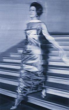 "Gerhard Richter ( ""Woman Descending a Staircase"" Oil on canvas"