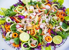 This chicken tamarind salad is our party special,  an explosion of colours, textures and flavours. It's simple and everyone loves it, so try it out for your next get together.