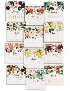 2013 Desk Calendar, Botanical with illustrations by Anna Bond