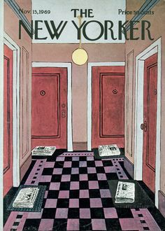 The New Yorker - Saturday, November 15, 1969 - Issue # 2335 - Vol. 45 - N° 39 - Cover by : Charles E. Martin