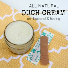 Ditch the chemical containing store-bought creams, and make your own! Feel good about slapping this cream on bumps, bruises, and cuts that Summer is sure to bring! Then check out 7 more great ideas to help you survive the Summer ... all naturally!!