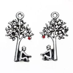 No of Pieces 5 xMain Colour Antique SilverMaterial Metal AlloySize 14 x 25mmShape Charms Pendants Tree Hole Size 1 5mmAdditional Info Free of Lead
