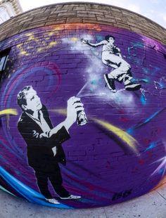 Urban artist SinXero at work in the Bronx.