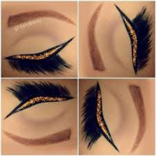 golden eyeliner for brown eyes - Google Search