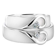 His and hers wedding bands.