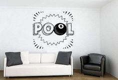 Wall Vinyl Sticker Decals Mural Room Design Decor Pattern Pool Billiard Ball Game Sport Hobby Stick mi337 by RoomDecalsAndDesigns on Etsy