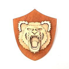 Niedźwiedź - dekoracja medalion z drewna[WoodWorx] - WoodWorx-design - Ozdoby na ścianę