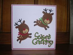 reindeer christmas cricut card | Calendars and Cards | Pinterest