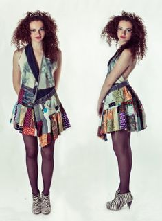 Patchwork/upcycled halter dress by neyney4 http://camp-spot.blogspot.com.es/ https://www.facebook.com/campspace