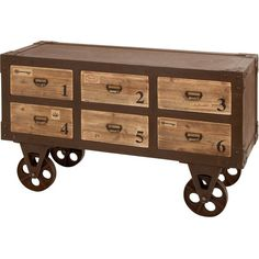 Industrial Inspired Storage Cabinet #industrial #storage #drawers #office #home #decor
