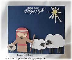 Cricut - Winter Frolic Cartridge and Stamps by ODBD (Blessed Christmas)  (Outside of card)