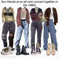 hehe i've been listening to the smiths all day today, they're so nice:))))) - sweater in the very first outfit is from Indie Outfits, Retro Outfits, Grunge Outfits, Cute Casual Outfits, Grunge Fashion, Vintage Outfits, Fashion Outfits, Grunge Clothes, Formal Outfits