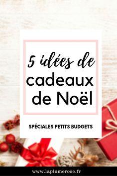 5 idées de cadeaux de noël pour les petits budgets ! #laplumeroseleblog #cadeaux #noel Letter Board, Budgeting, Place Cards, Place Card Holders, Lettering, Blog, Deco, Christmas, End Of The Year Celebration