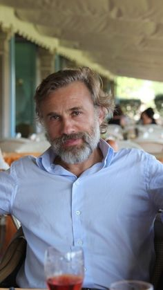 What's that Christoph Waltz? Indeed! Wine and conversation about your beard sounds delightful.
