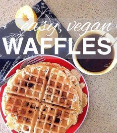 Going Zero Waste: Easy Vegan Waffles