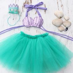 The Little Mermaid Birthday Party Ideas / Festa A Pequena Sereia Ariel Mermaid Theme Birthday, Little Mermaid Birthday, Little Mermaid Parties, Baby Mermaid, The Little Mermaid, Mermaid Pinata, Mermaid Party Costume, Nemo Costume, Mermaid Costumes