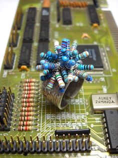 Ring made of old computer resistors by GeekeryJewelry on Etsy, $9.00