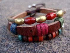 I checked out handmade leather bracelet on Lish, $3.47 USD