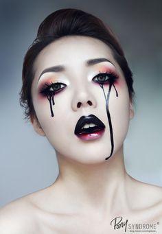 Black Tears : 네이버 블로그  black to pink gradient glossy lipstick