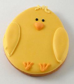 Chick Easter Cookies - same design on a cupcake?