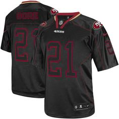 5b999efda Mens Nike San Francisco 49ers  21 Frank Gore Elite Lights Out Black NFL  Jersey on