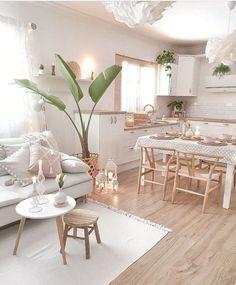 Dreamy Bohemian Home Decor Ideas Home Living Room, Apartment Living, Living Room Designs, Living Room Decor, Bedroom Decor, Küchen Design, House Design, Bohemian Kitchen, Home Decor Kitchen