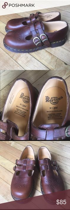 Dr Martens MaryJane Buckle Strap Clog New England Dr Martens Womens  Sz 7 US / 5 U  ENGLAND MaryJane Buckle Strap Clog Shoes New Never Worn Dr. Martens Shoes Mules & Clogs