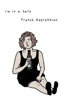Crazy Ex-Girlfriend - Sexy French Depression card Ex Girlfriend Quotes, Girlfriend Tattoos, Crazy Ex Gf, Rebecca Bunch, Crazy Ex Girlfriends, West Covina, A6 Size, Dear Evan Hansen, Great Tv Shows