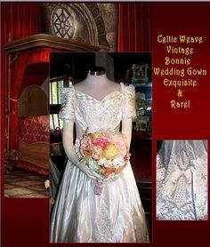 Exquisite Celtic Weave Bonnie Vintage Wedding Gown by whiteriver51