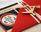 Vintage American Airlines Boarding Pass Birthday Invitation - Design Fee. $30.00, via Etsy.