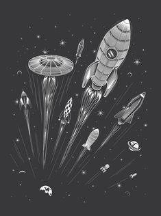 Space Race - Art Print