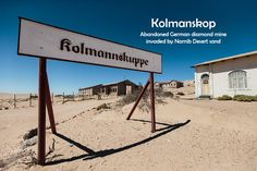 Photo series of Kolmanskop ghost town, an abandoned German diamond mine in Namib Desert