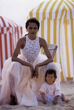 Karen Alexander and Ella Kidron photographed by Patrick Demarchelier, Vogue, November 1991.