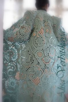 """Coat """"Mint patterns"""""""