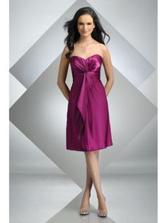 A-line Sweetheart Knee Length / Short Bridesmaid / Wedding Guest Dresses 501051