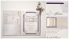 wedding invitations with rhinestone | Momental Design is completely custom and hand-crafted just for you ...