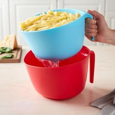 Free 2-day shipping on qualified orders over $35. Buy Tasty 2pc Colander Set - Colander and Bowl, Blue/Red at Walmart.com